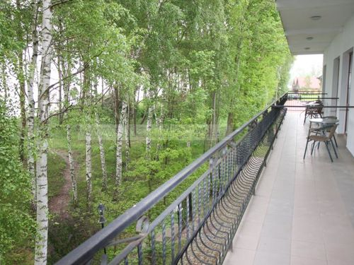 widok na balkony 1 piętro