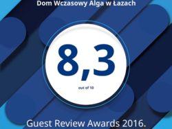 Nagroda za wysokie oceny Gości za 2016r.