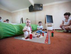 Pokój zabaw dla najmłodszych. Doskonałe miejsce obok tarasu , który znajduje się na dachu budynku.