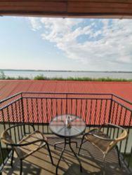 Widok z balkonu jezioro Jamno z pokoju 8,9,12,13