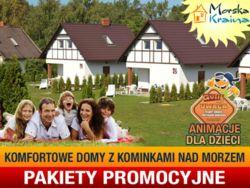 MORSKA KRAINA komfortowe domy z kominkami PAKIETY PROMOCYJNE!